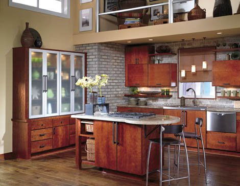 Beautiful rustic kitchen color.
