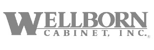 Gray Wellborn Cabinet, Inc. logo in white background.