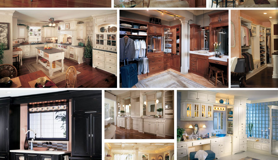 Collage of beautiful cabinets.
